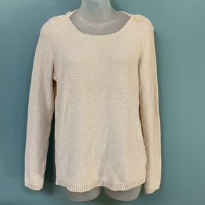LOFT Cream Knit Sweater